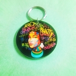 Dashiki Queen Keychain